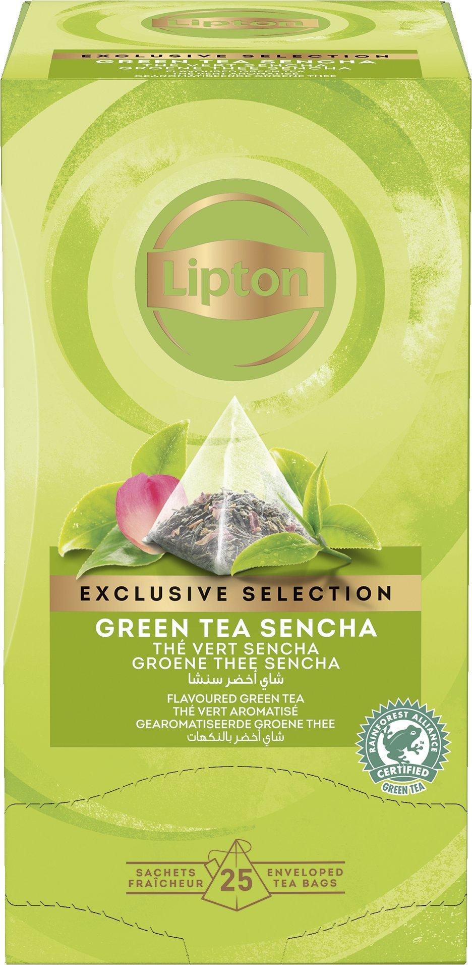 LIPTON Green tea Sencha - Zöld tea rózsa ízesítéssel
