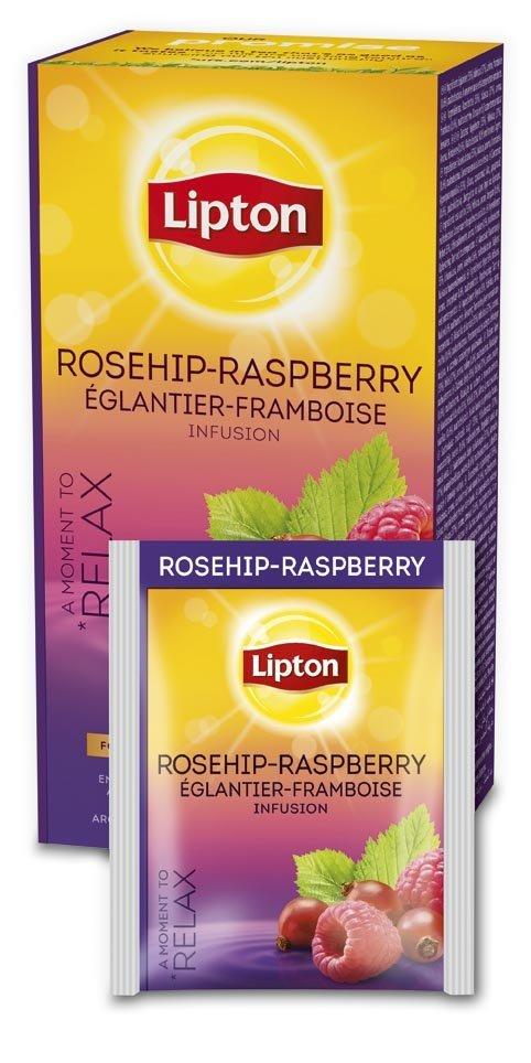 LIPTON Málna-Csipkebogyó tea 25 x 2,5 g