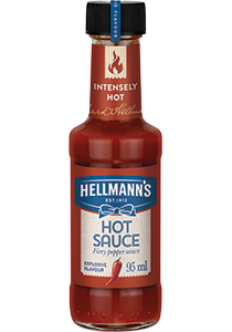 HELLMANN'S Csípőspaprika szósz 95 ml -  Minőségi márkájú termék felszolgálása pozitív benyomást kelt a vendégekben.