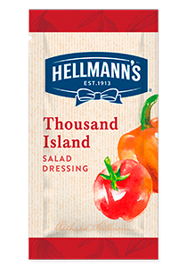 HELLMANN'S Ezersziget salátaöntet - 30 ml GLUTÉNMENTES - Adja salátái mellé grátiszba, vagy árulja külön tételként.