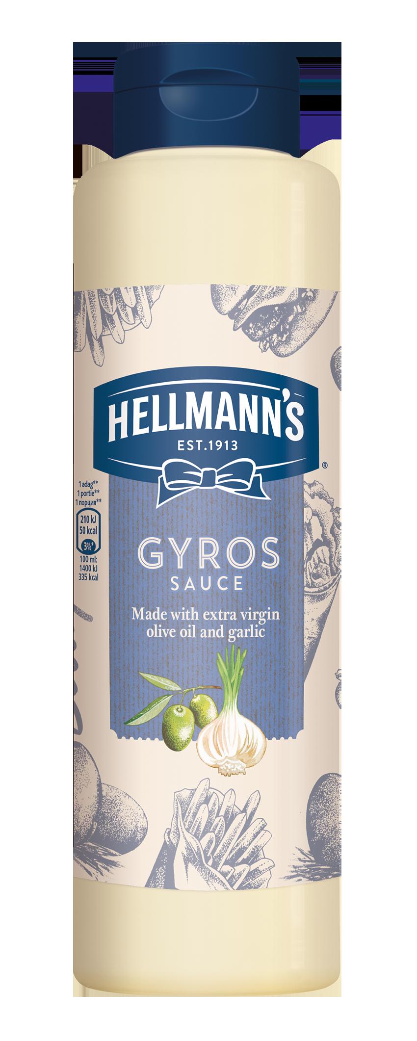 HELLMANN'S Gyros szósz 850 ml -  Minőségi márkájú termék felszolgálása pozitív benyomást kelt a vendégekben.