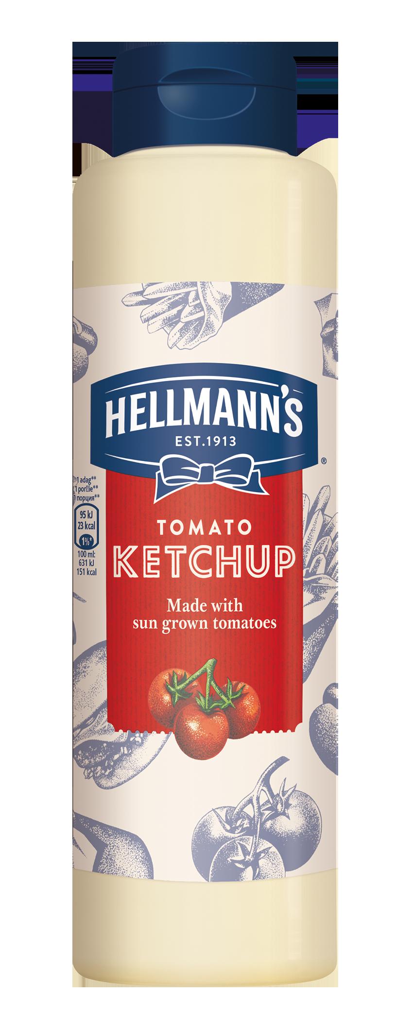 HELLMANN'S Ketchup 819ml -  Minőségi márkájú termék felszolgálása pozitív benyomást kelt a vendégekben.