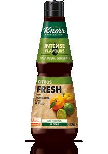 Knorr Folyékony ízesítő mandarinnal, lime-mal és yuzuval 400 ml - Természetes alapanyagok és összetett ízek egy üvegbe zárva