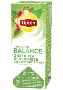 LIPTON Piros bogyósgyümölcs ízesítésű zöld tea