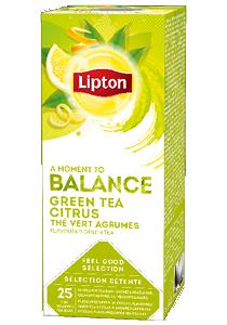 LIPTON Zöldtea citrussal 25 x 1.6 g - Változatos Lipton tea kínálat: herbal, fekete, zöld vagy gyömülcs ízű