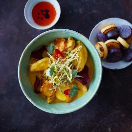 Csirkés sárga curry