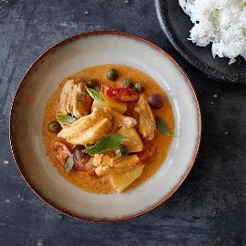 Csirkés vörös curry