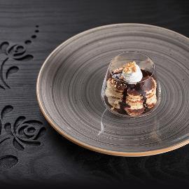 Somlói Galuska pohárban kókuszos vaníliakrémmel