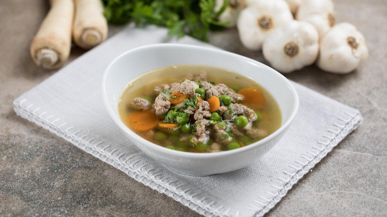 Burgonyás májgaluska leves (7-10 éves korcsoport, allergénmentes alappal)