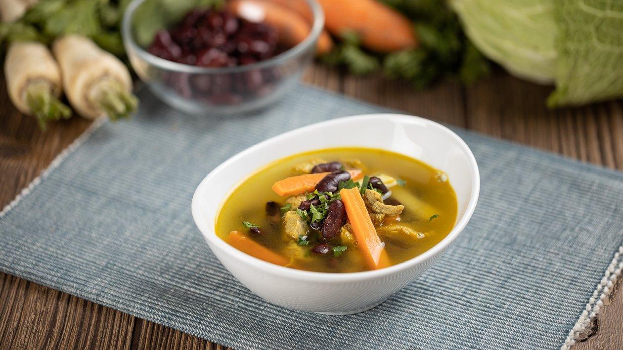 Currys-zöldséges-húsos bableves (7-10 éves korcsoport)