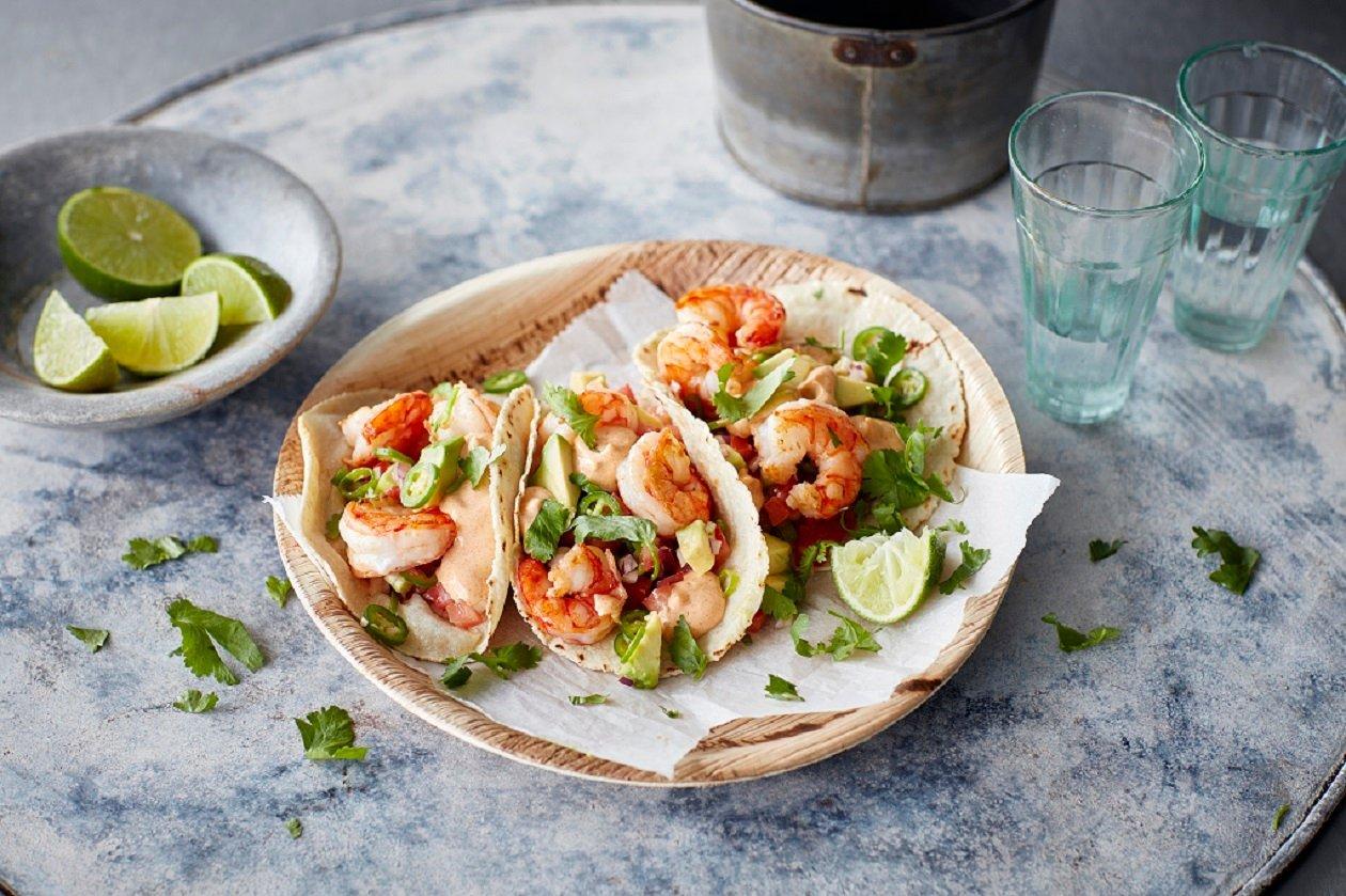 Garnelás taco