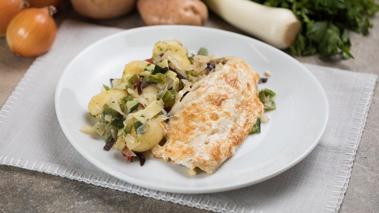 Majonézzel sült hal zöldséges burgonyával (7-10 éves korcsoport)