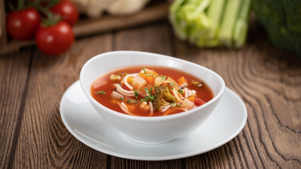 Olaszos zöldségleves (gluténmentes, felnőtt)