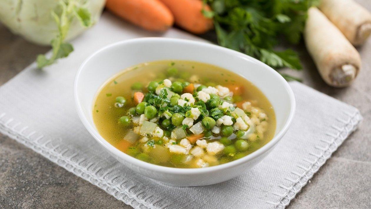 Zöldborsó leves (7-10 éves korcsoport, allergénmentes alappal)