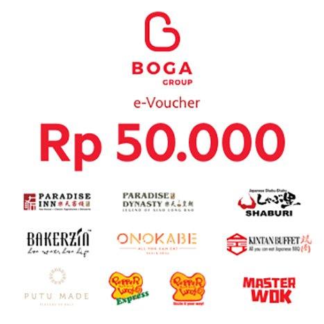 Rp50,000 e-Voucher Boga Group -