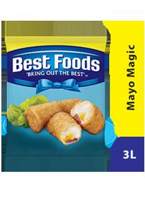 Best Foods Mayo Magic 3L - Best Foods Mayo Magic adalah pilihan tepat untuk hidangan panas, tahan hingga 200⁰C.