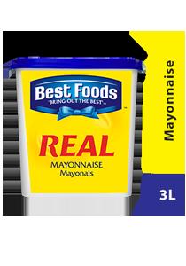 Best Foods Real Mayonnaise 3L - Best Foods Real Mayonnaise, dibuat hanya dari bahan berkualitas dan dipilih oleh Chef diseluruh dunia.