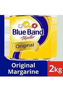 Blue Band Master Original Margarine Tin 2kg - Blue Band Master Original, aromanya dipilih oleh pengusaha bakery dan chef yang premium dan sukses sejak 1934.