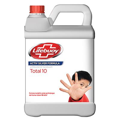 Lifebuoy Sabun Cuci Tangan 4L - Membersihkan Kuman Penyebab Penyakit Hanya Dalam 10 Detik.