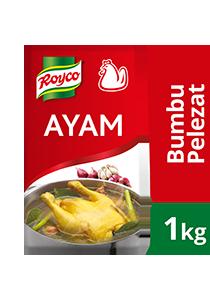 Royco Bumbu Pelezat Rasa Ayam 1kg - Penyedap khas Indonesia untuk hasilkan masakan dengan citarasa gurih & rasa daging yang mantap!