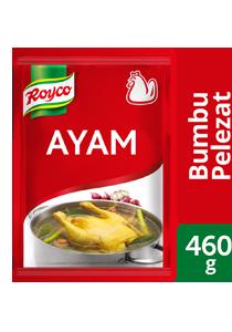 Royco Bumbu Pelezat Rasa Ayam 460g - Royco, dengan daging & rempah berkualitas untuk hasilkan kaldu mantap, penuh citarasa!