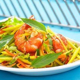 Shrimp with Green Mango Salad