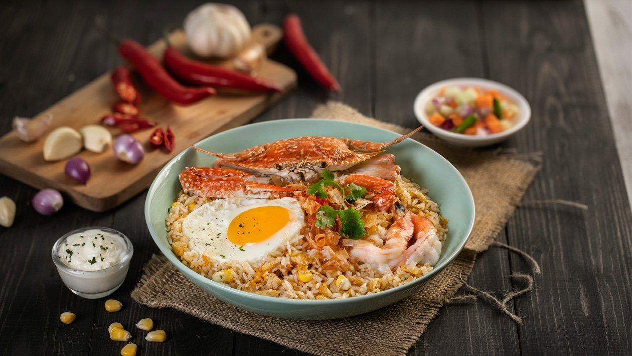 Nasi Goreng Kepiting Rajungan