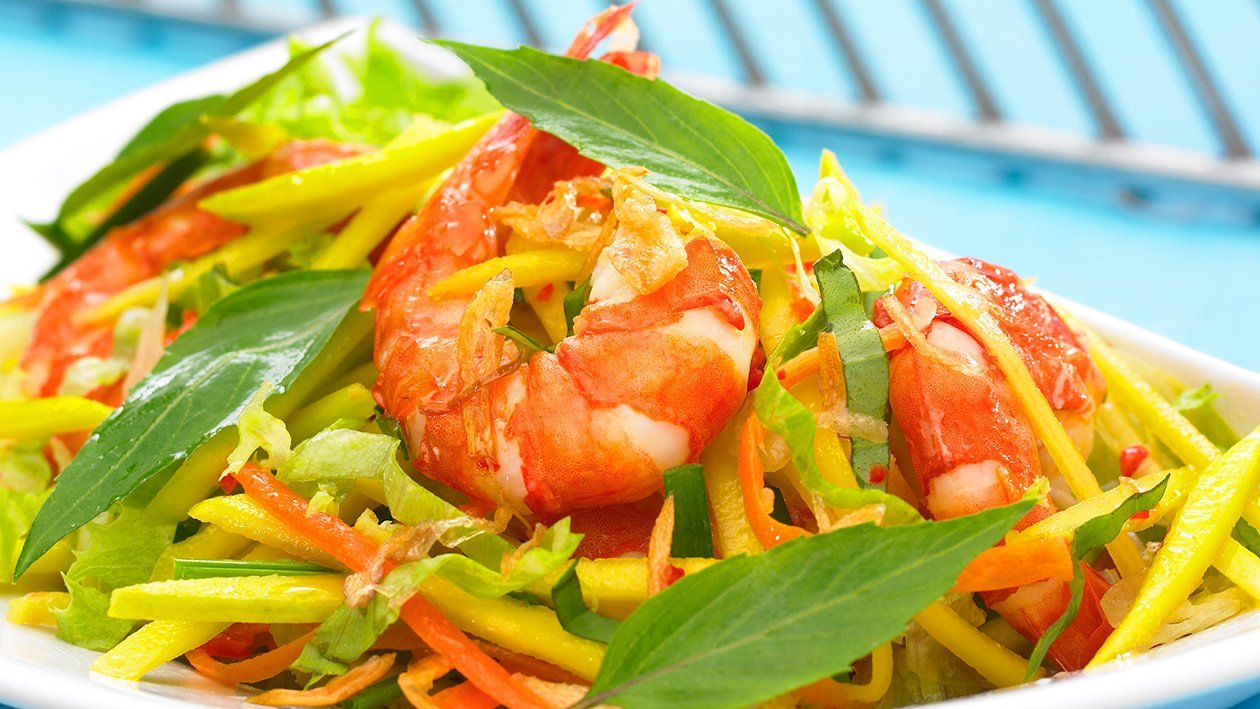 Shrimp with Green Mango Salad