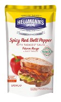 Hellmann's Gourmet Sandwich Sauce Spicy Red Bell Pepper with Tabasco Sauce - Peperone rosso piccante 570 ml