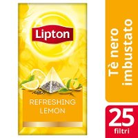 Lipton Pyramid Refreshing Lemon Flavoured Black Tea 25 Filtri