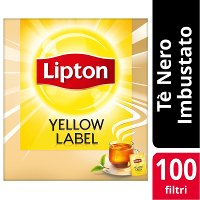 Lipton Yellow Label Tea 100 Filtri imbustati