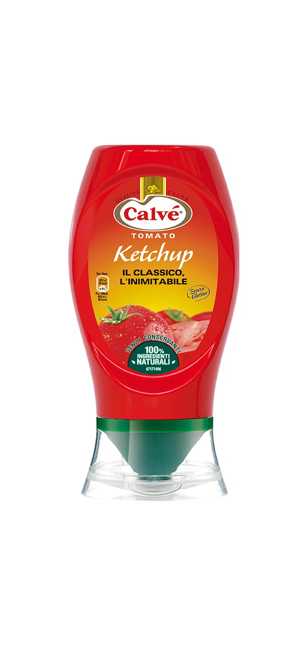 Calvé Tomato Ketchup Top Down 430 ml