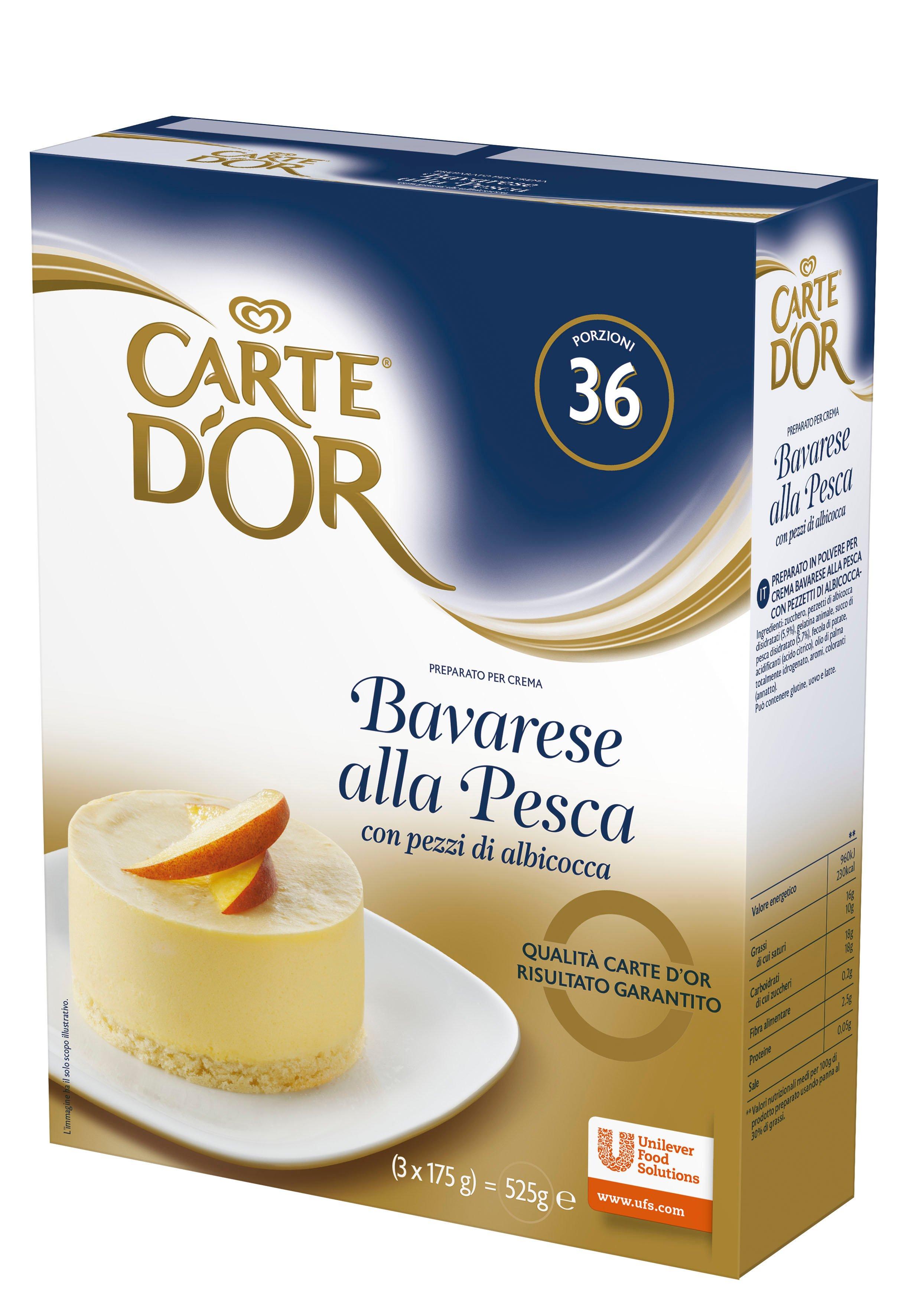 Carte d'Or preparato per crema Bavarese alla Pesca con pezzi di albicocca 525 Gr -