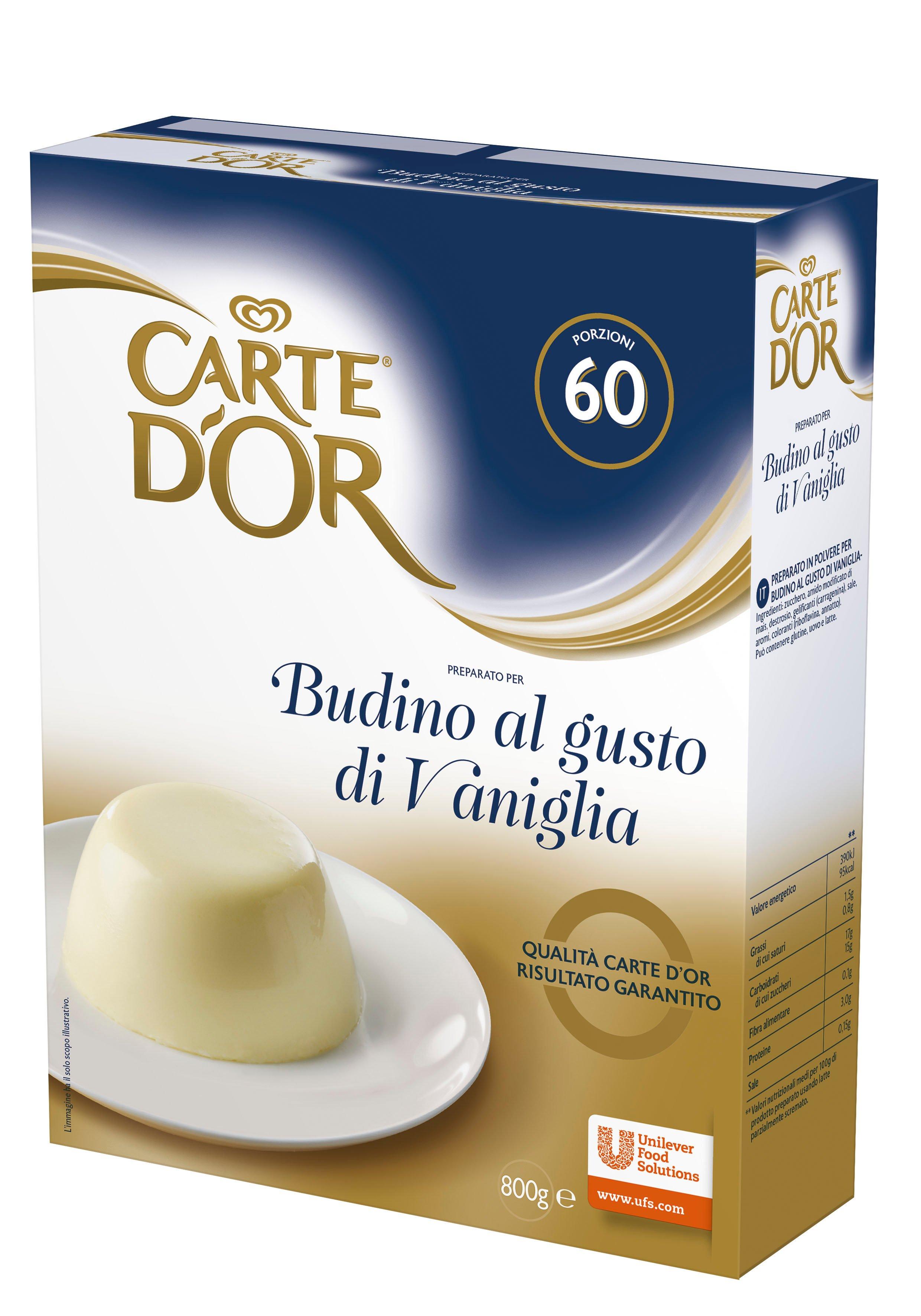 Carte d'Or preparato per Budino al gusto di Vaniglia 800 Gr