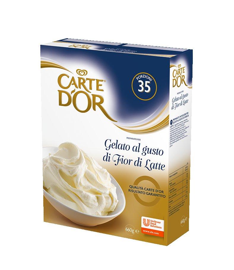 Carte d'Or preparato per Gelato al gusto Fior di Latte 660 Gr