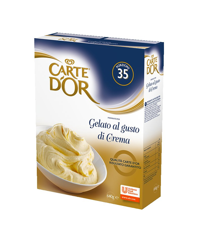 Carte d'Or preparato per Gelato alla Crema 640 Gr