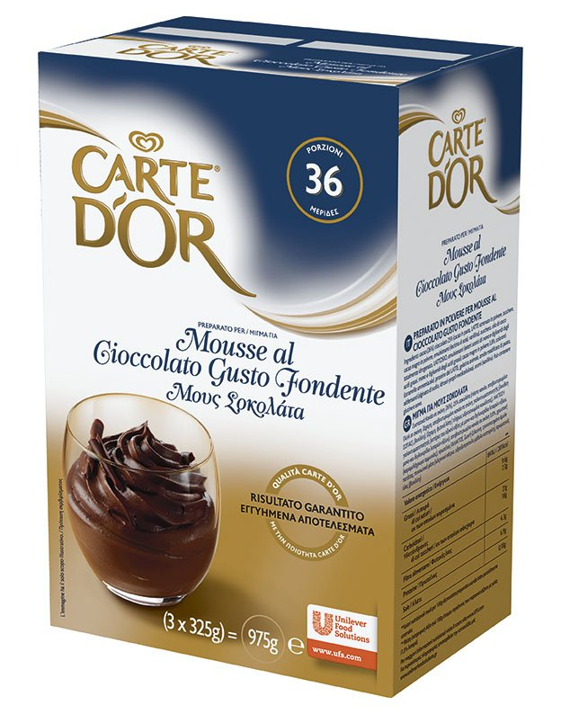 Carte d'Or preparato per Mousse al Cioccolato Gusto Fondente 975 Gr -