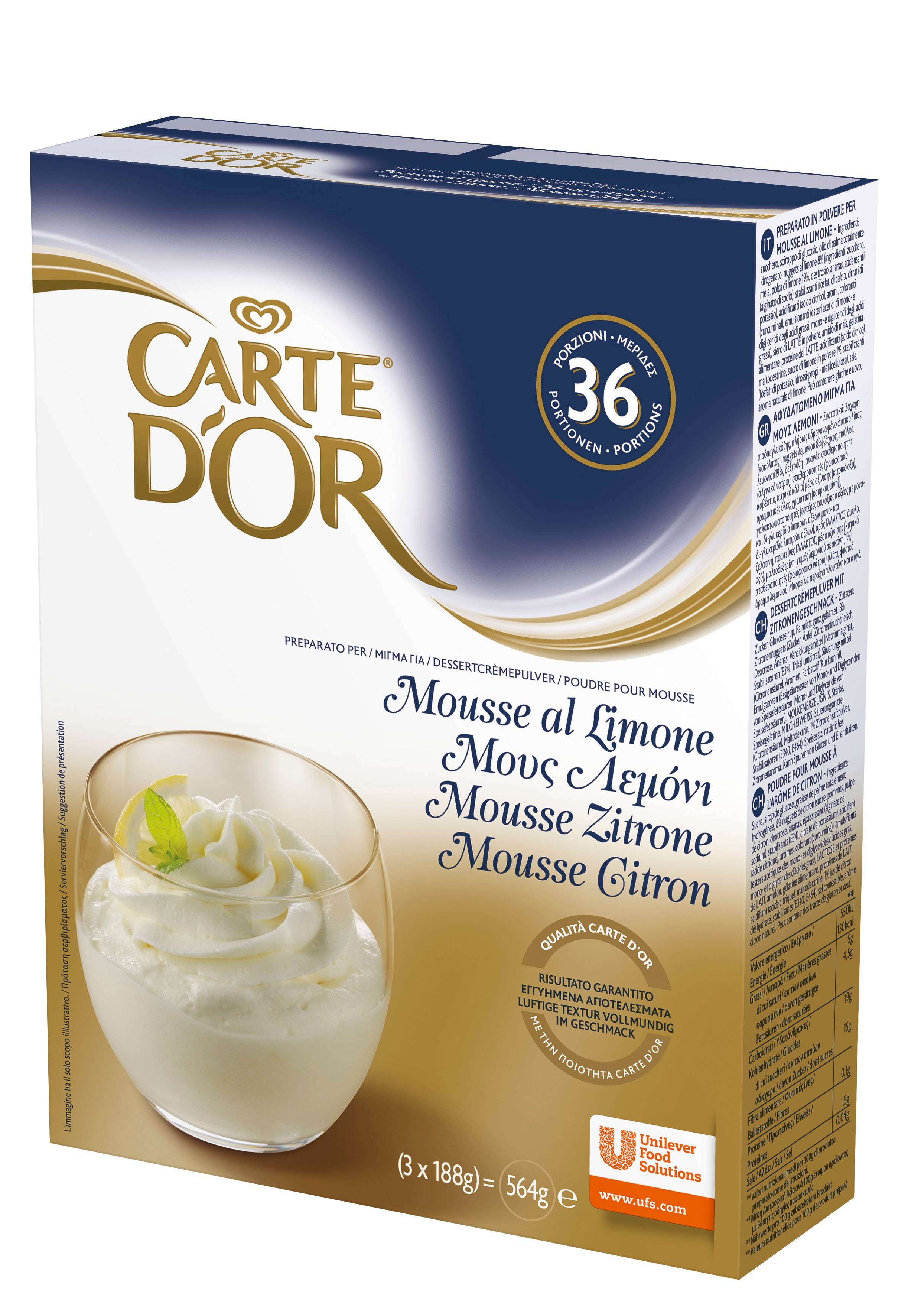 Carte d'Or preparato per Mousse al Limone 564 Gr