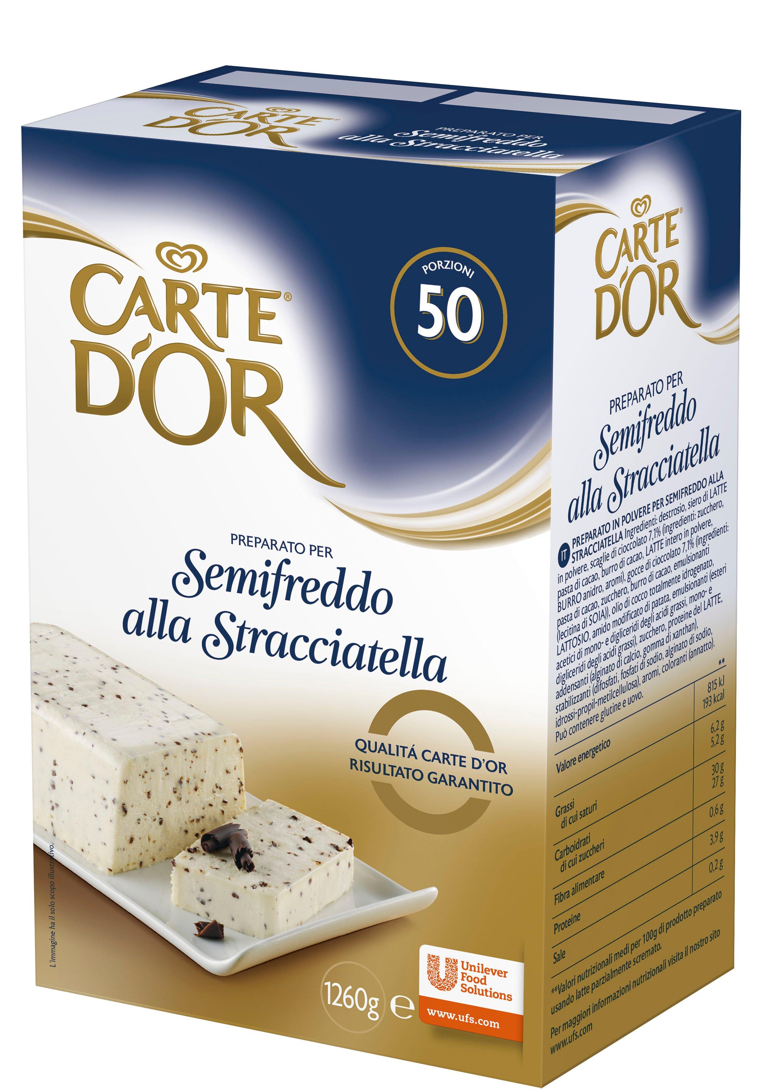 Carte d'Or preparato per Semifreddo alla Stracciatella 1,26 Kg