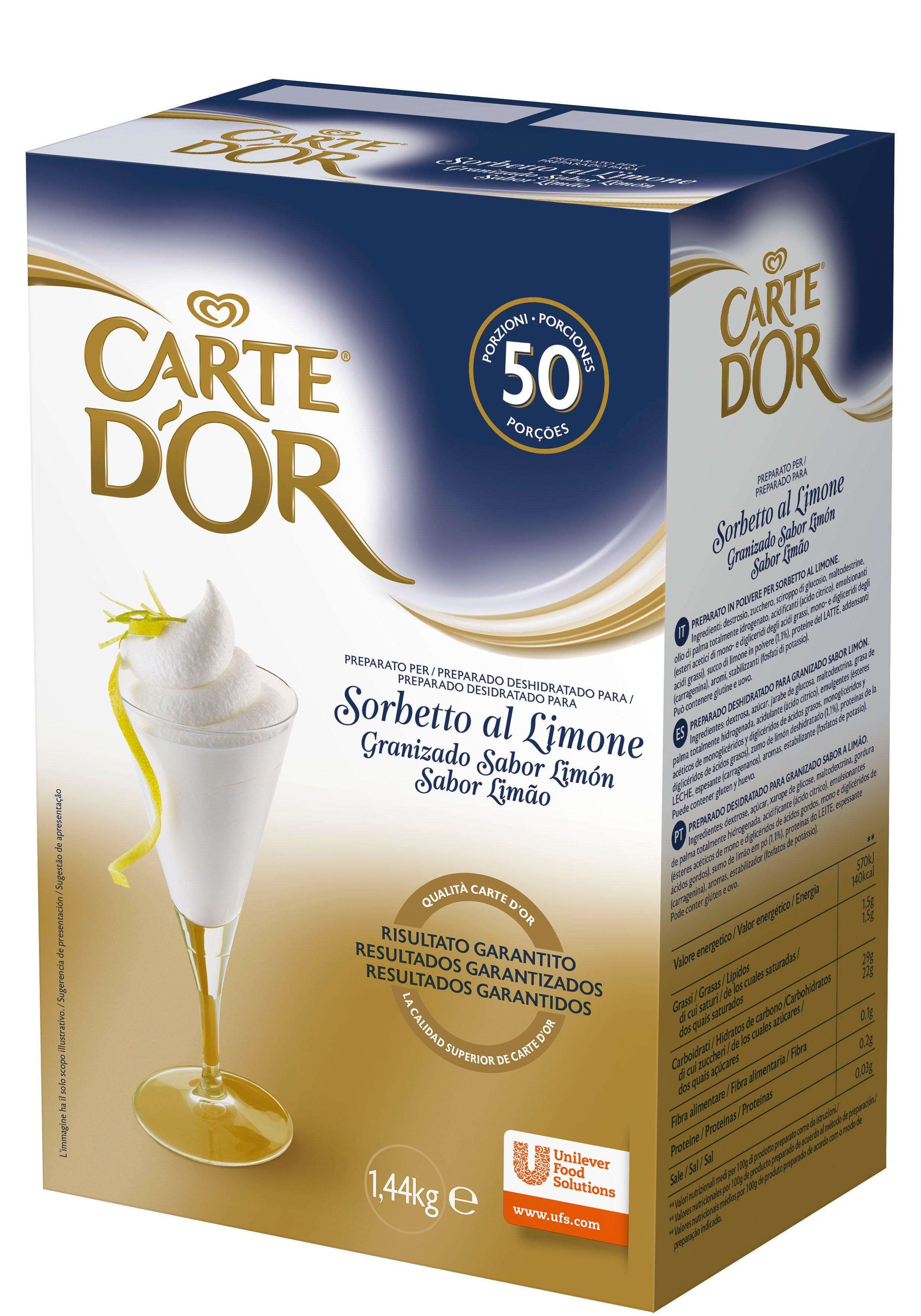 Carte d'Or preparato per Sorbetto al Limone 1,44 Kg