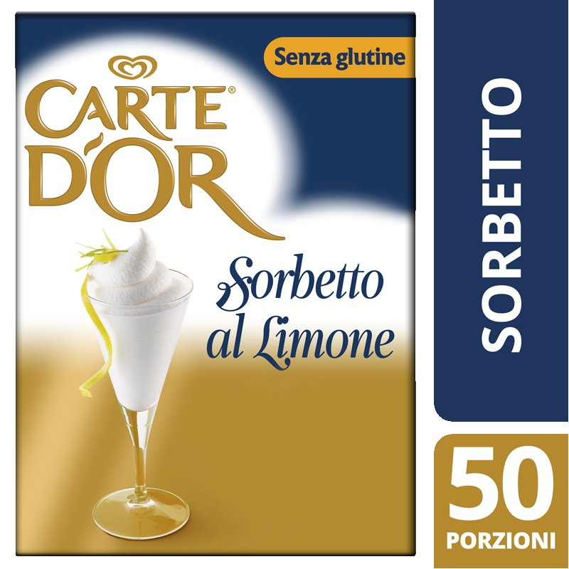 Carte d'Or preparato per Sorbetto al Limone 1,44 Kg -