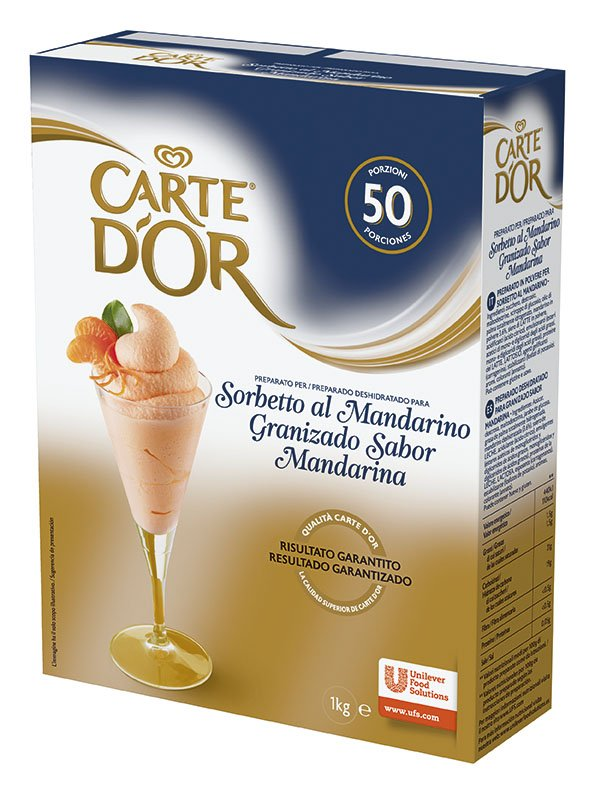 Carte d'Or preparato per Sorbetto al Mandarino 1 Kg -