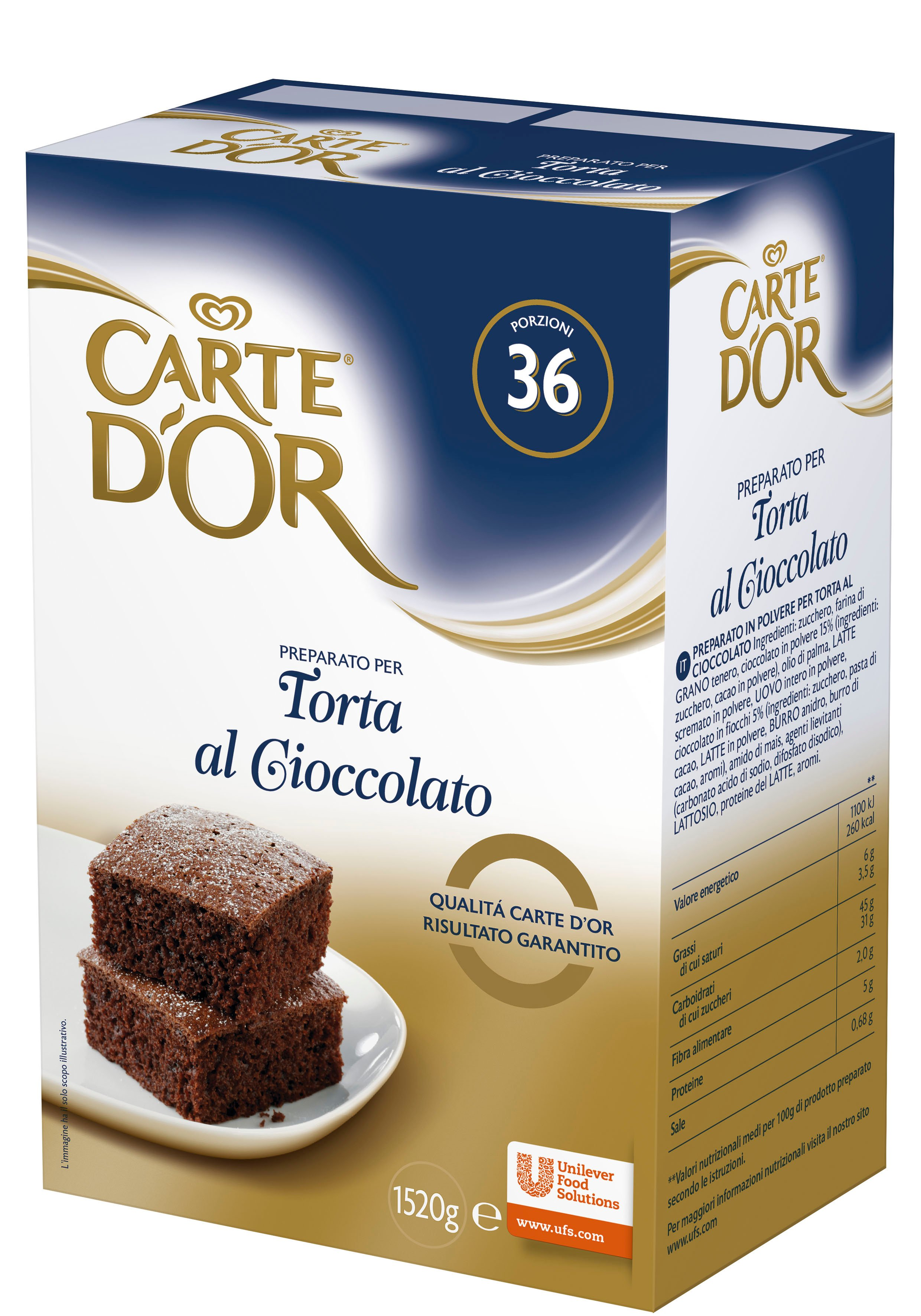 Carte d'Or preparato per Torta al Cioccolato 1,52 Kg -