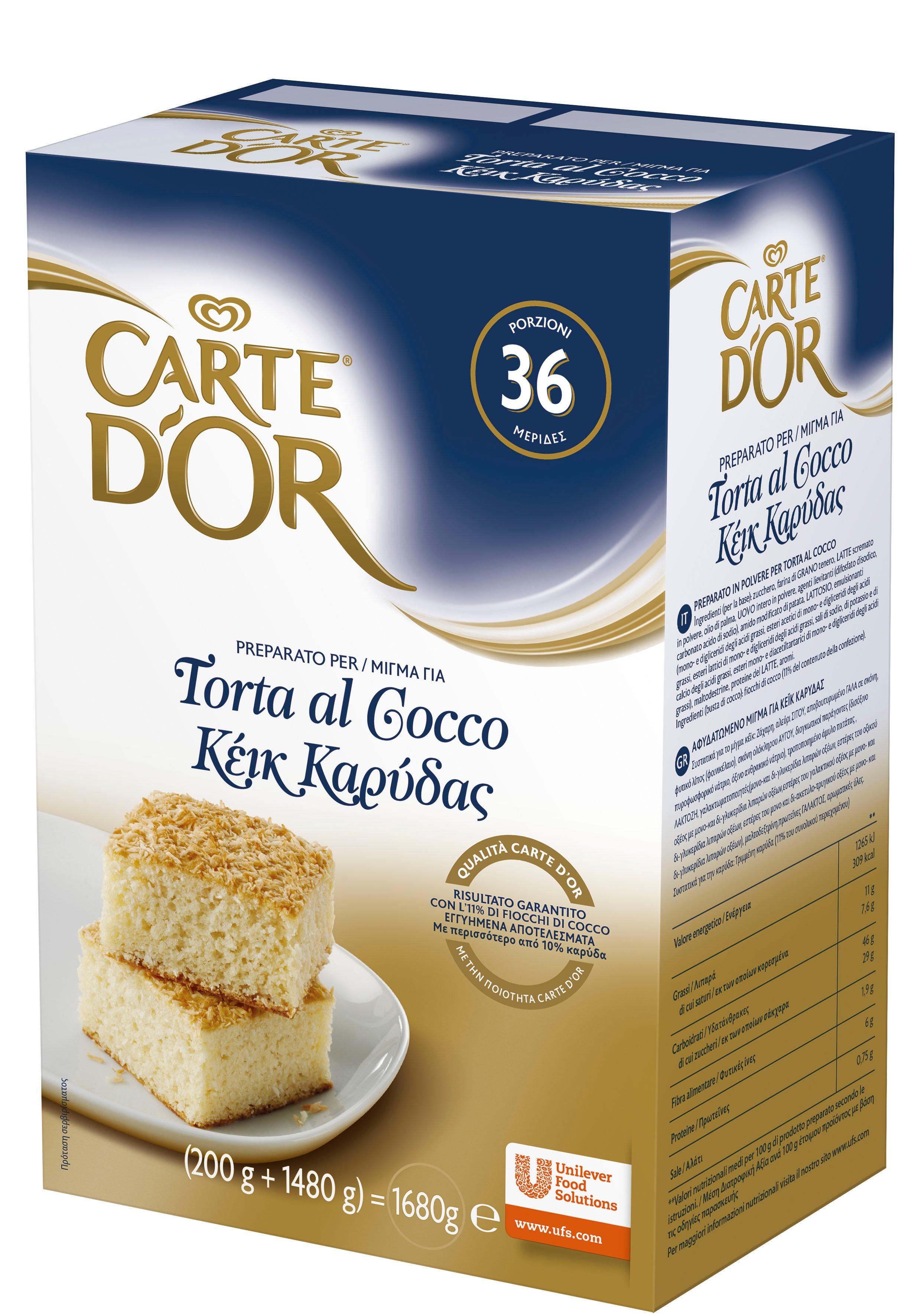 Carte d'Or preparato per Torta al Cocco 1,68 Kg -