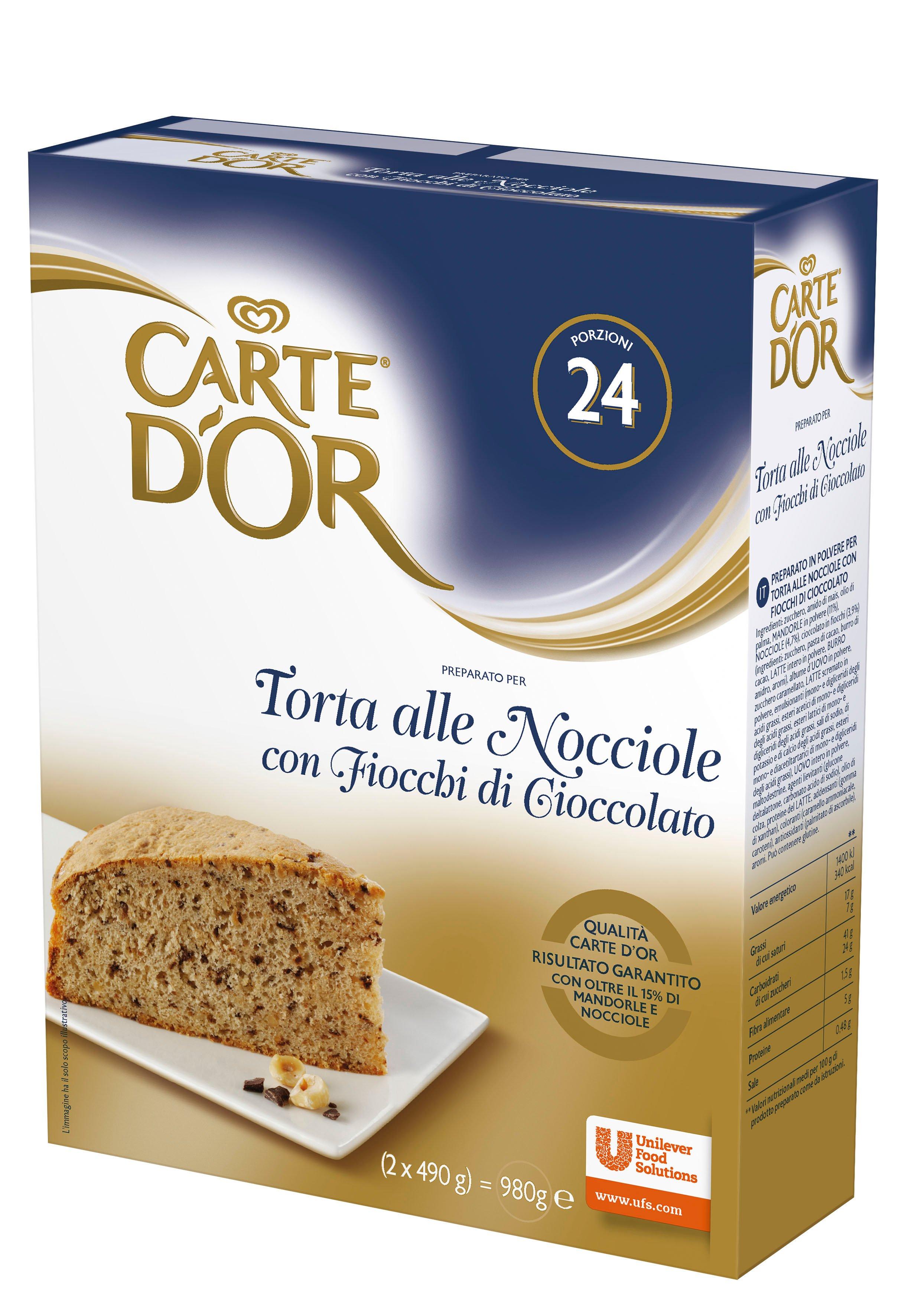 Carte d'Or Torta alle Nocciole con Fiocchi di Cioccolato 980 gr