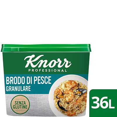 Knorr brodo di pesce granulare 550gr Senza Glutine -