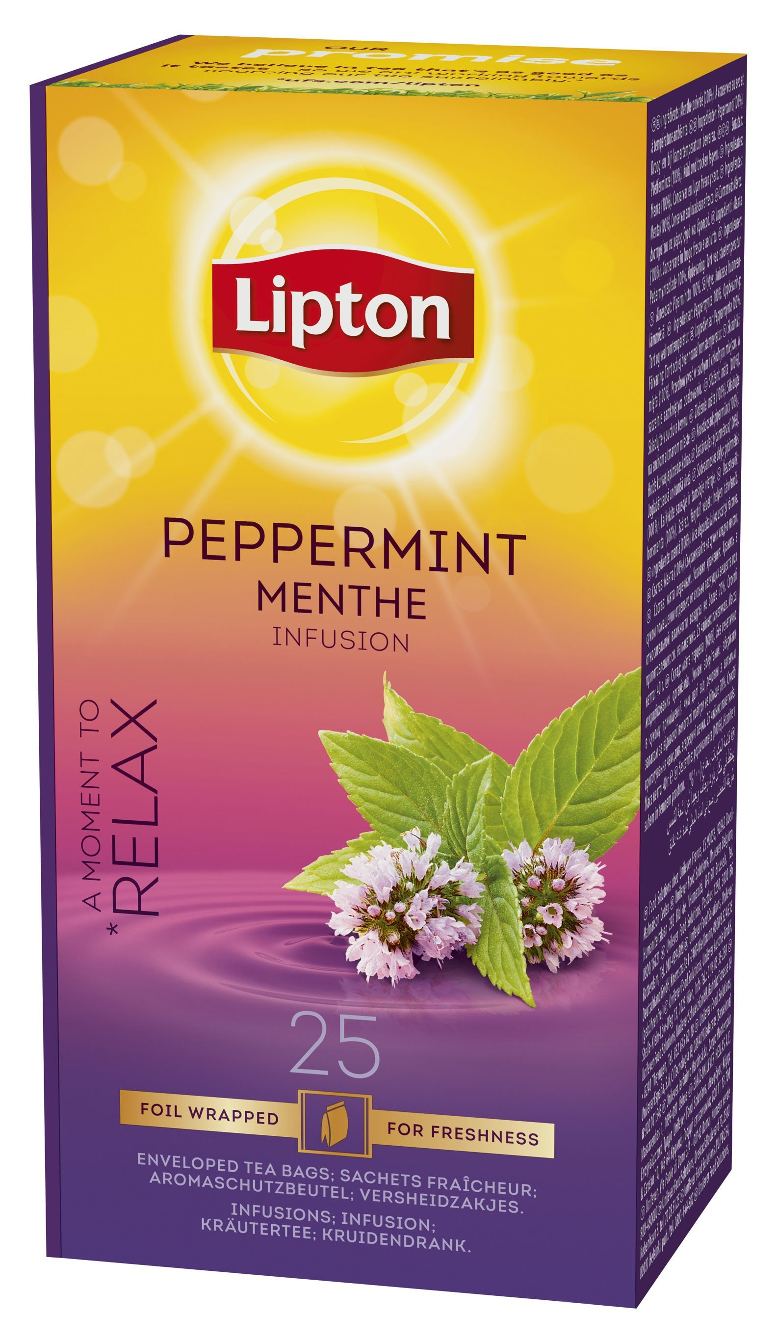 Lipton Peppermint Menthe Infusion 25 Filtri