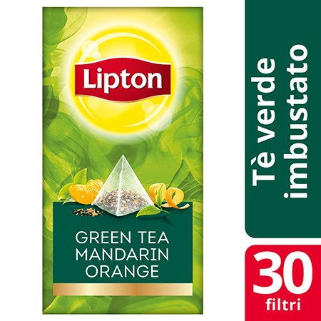 Lipton Pyramid Green Tea Mandarine Orange Flavoured Green Tea 30 Filtri