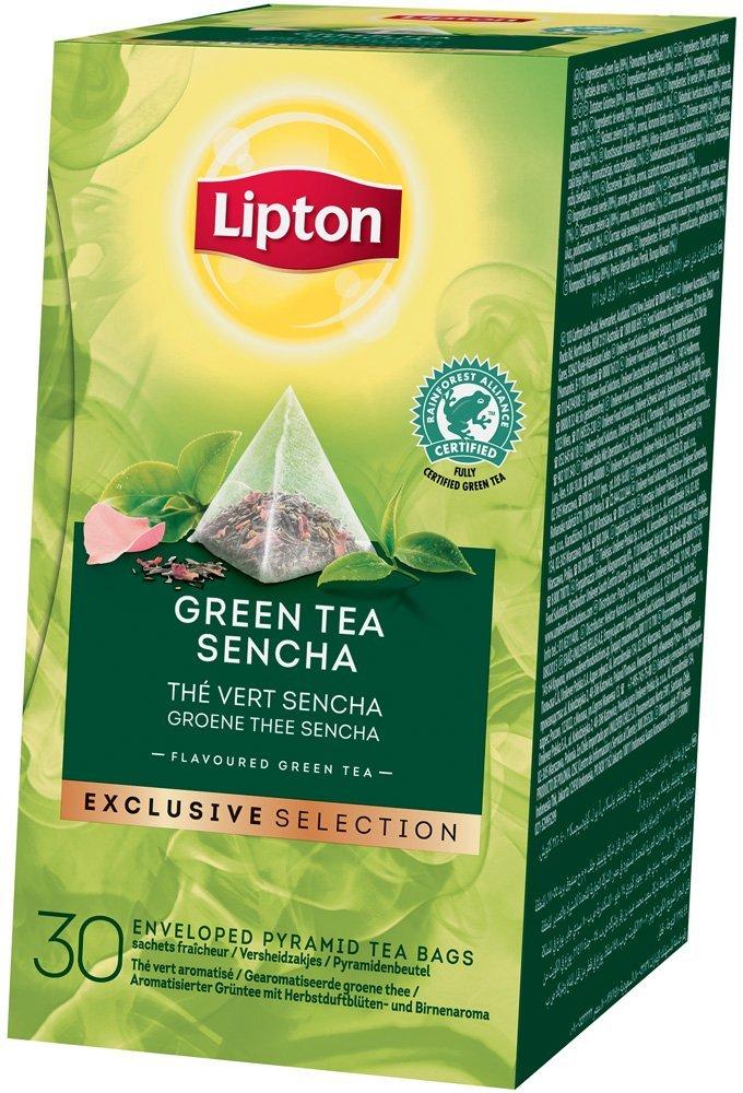 Lipton Pyramid Green Tea Sencha Flavoured Green Tea 30 Filtri