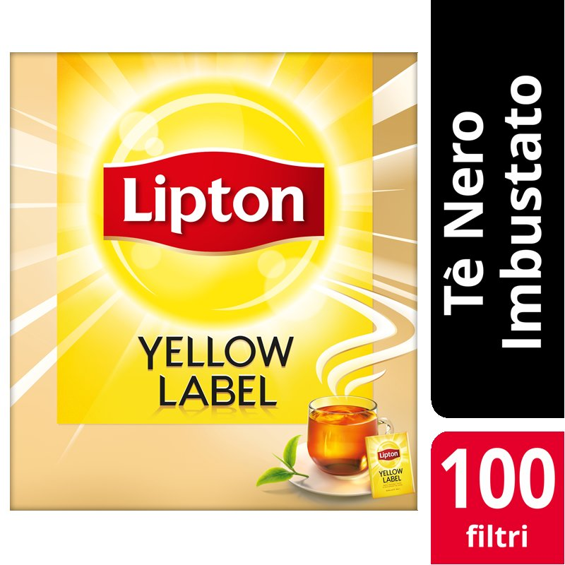 Lipton Yellow Label Tea 100 Filtri imbustati -